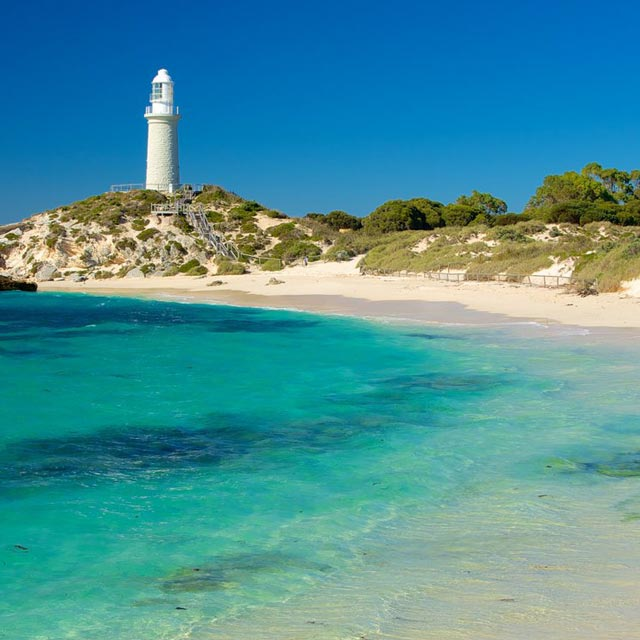 Lighthouse on Rottnest Island, Perth WA